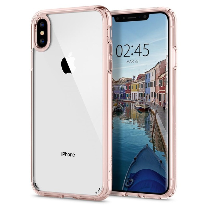 Spigen Ultra Hybrid iPhone XS Max Hoesje roze / transparant 07