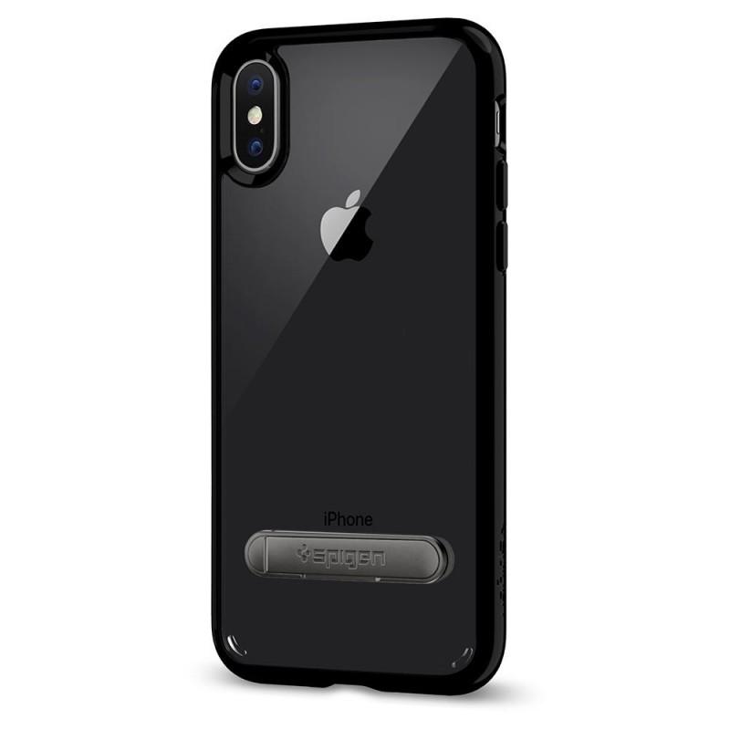 Spigen Ultra Hybrid S iPhone X/Xs Hoesje Zwart/Transparant - 5