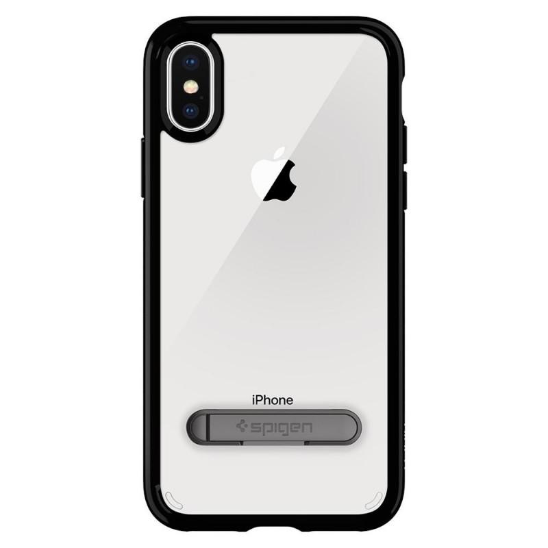 Spigen Ultra Hybrid S iPhone X/Xs Hoesje Zwart/Transparant - 7