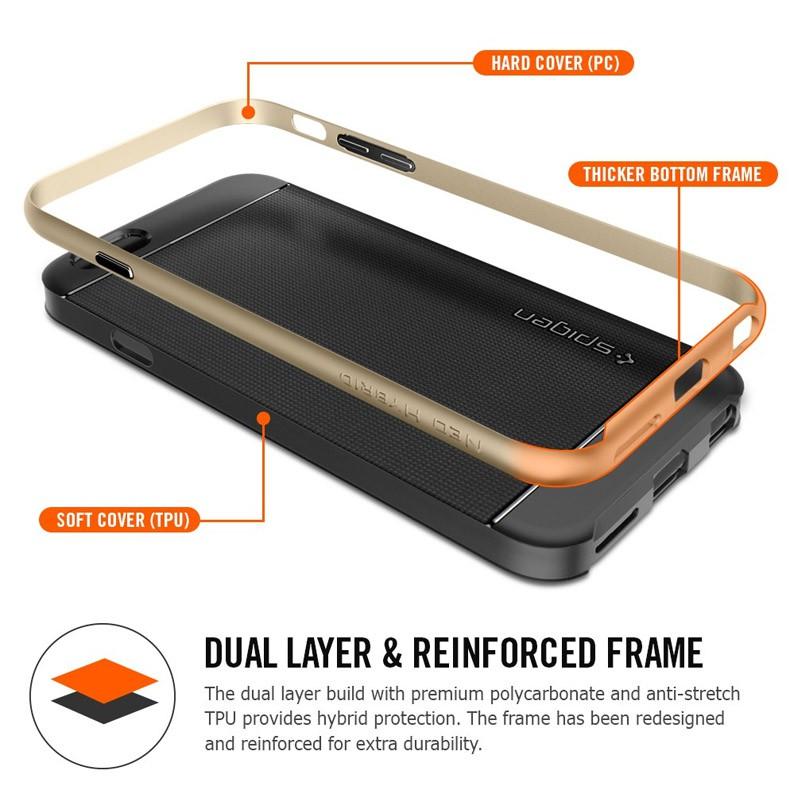 Spigen Neo Hybrid Case iPhone 6 Plus Gunmetal - 2