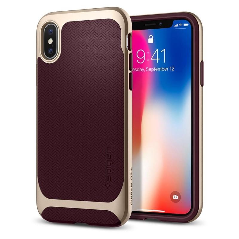 Spigen Neo Hybrid iPhone X/Xs Burgundy - 1