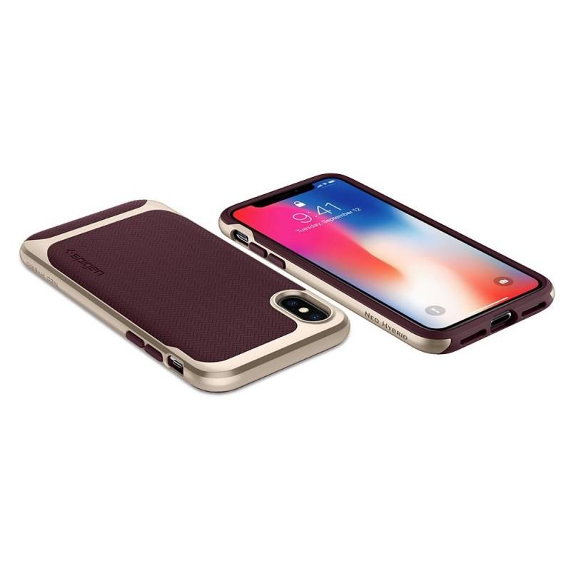 Spigen Neo Hybrid iPhone X/Xs Burgundy - 4