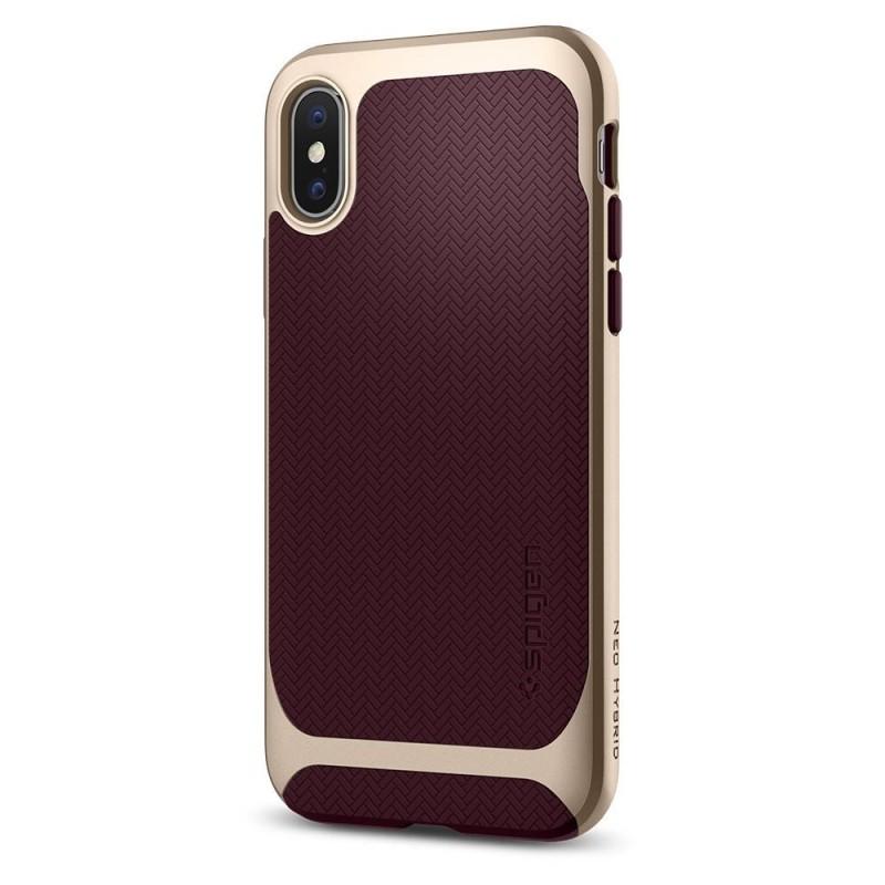 Spigen Neo Hybrid iPhone X/Xs Burgundy - 5