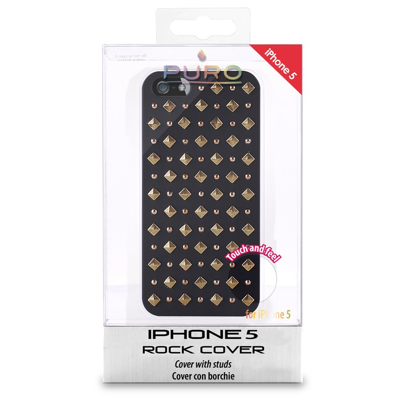 Puro Studs Backcover iPhone 5/5S Black - 5