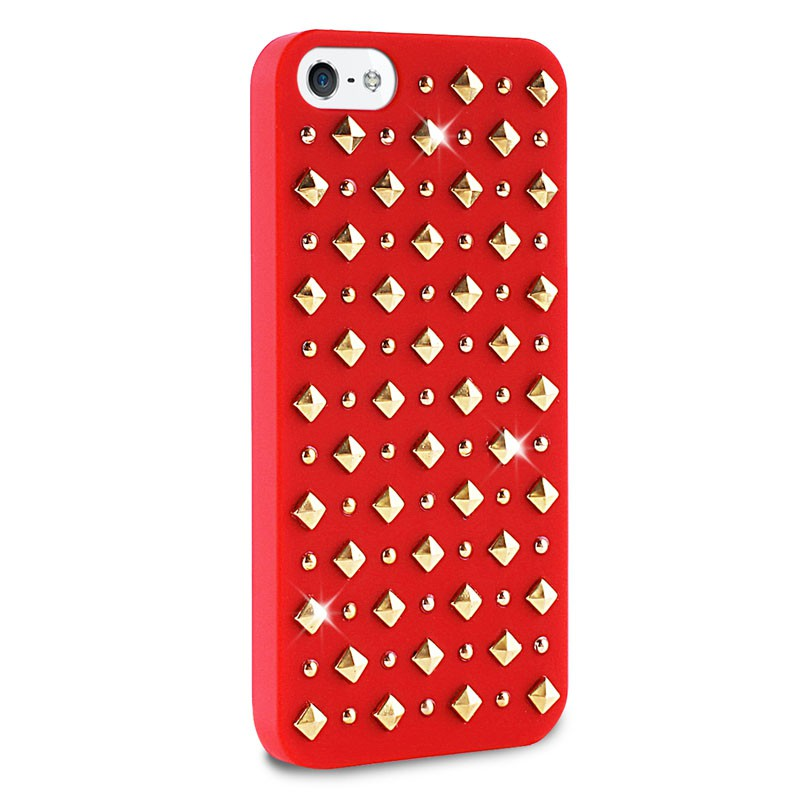 Puro Studs Backcover iPhone 5/5S Red - 2
