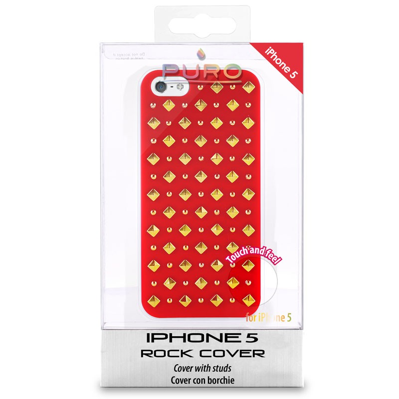 Puro Studs Backcover iPhone 5/5S Red - 4
