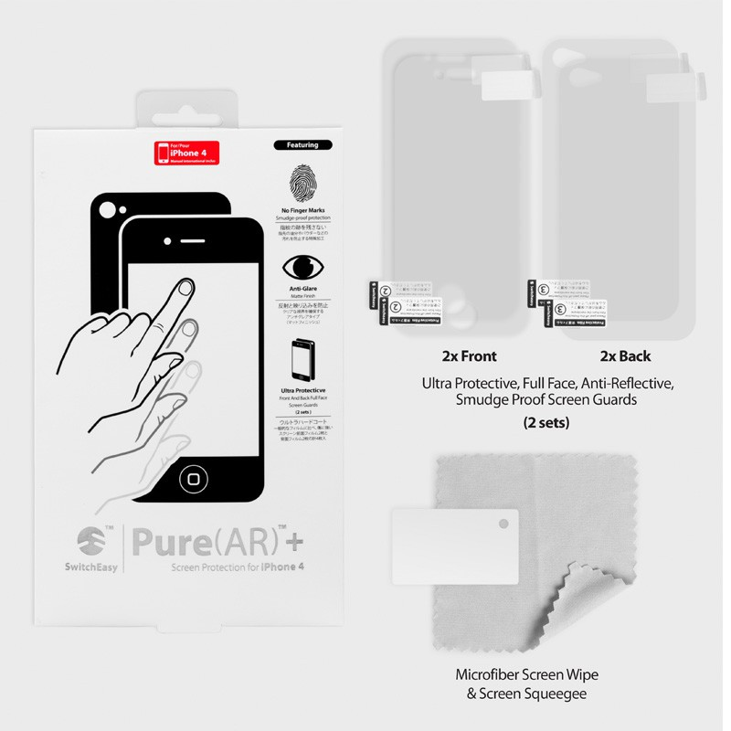 SwitchEasy Pure+ Anti-Reflect iPhone 4(S) - 4