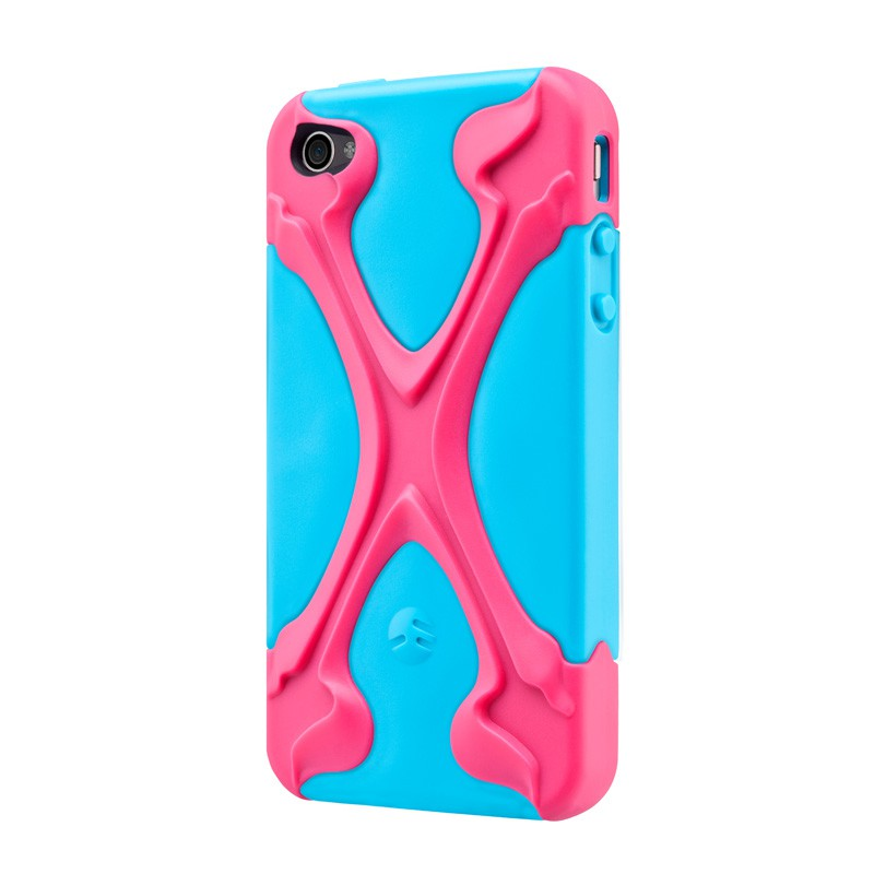 SwitchEasy Rebel X Pink/blue iPhone 4(S) - 2