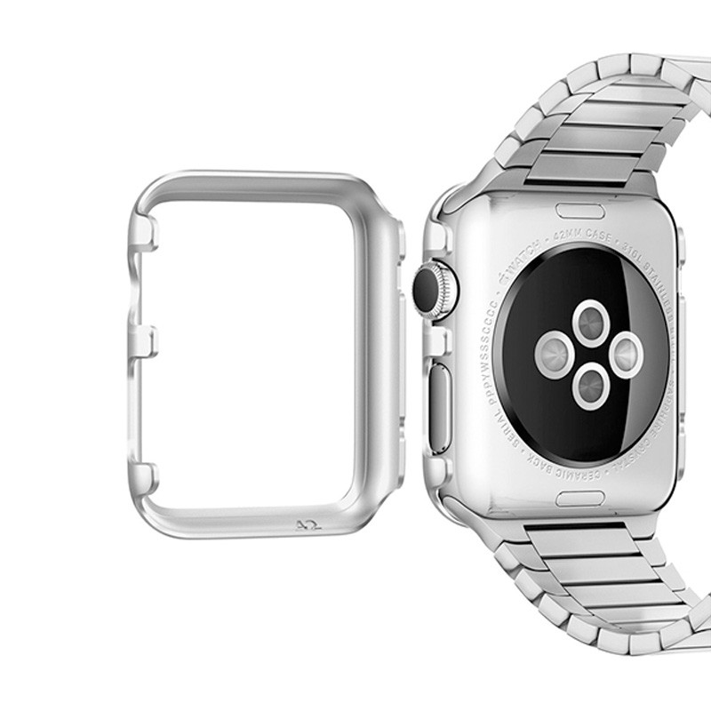 Spigen Thin Fit Case Apple Watch 38mm Silver - 4