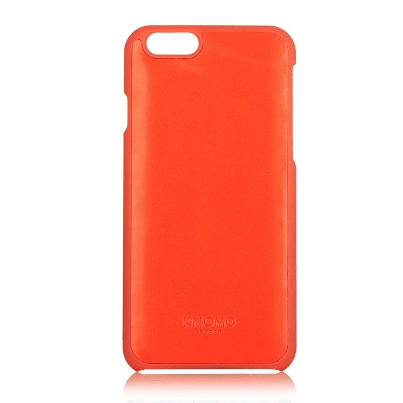 Knomo Leather Snap Case iPhone 6 Plus Tomato - 2
