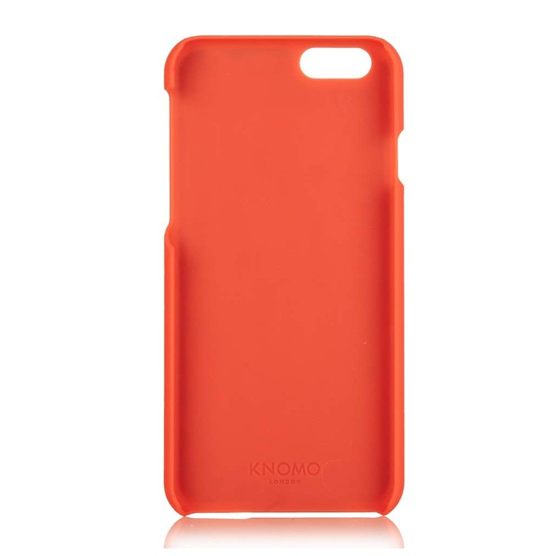 Knomo Leather Snap Case iPhone 6 Plus Tomato - 4