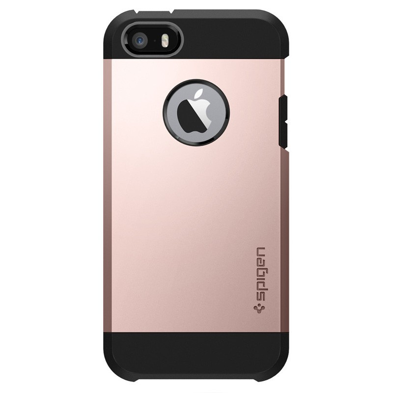 Spigen Tough Armor Case iPhone SE / 5S / 5 Rose Gold - 1
