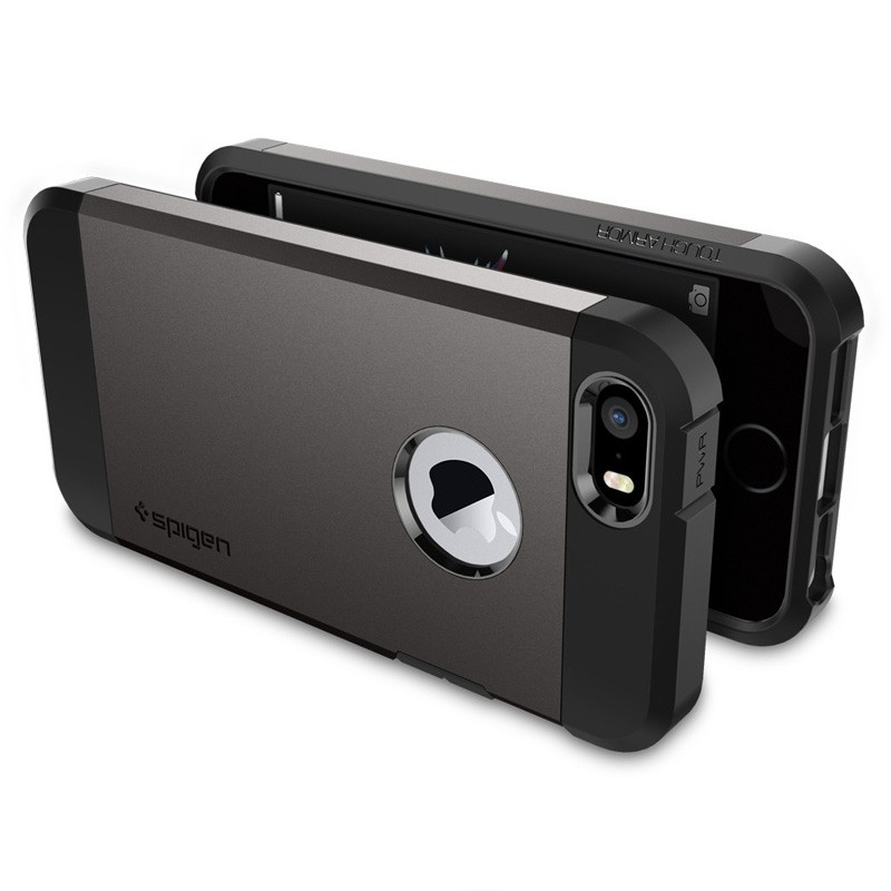 Spigen Tough Armor Case iPhone SE / 5S / 5 Gunmetal - 5