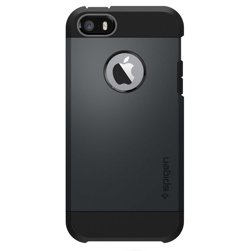 Spigen Tough Armor Case iPhone SE / 5S / 5 Slate Metal - 1