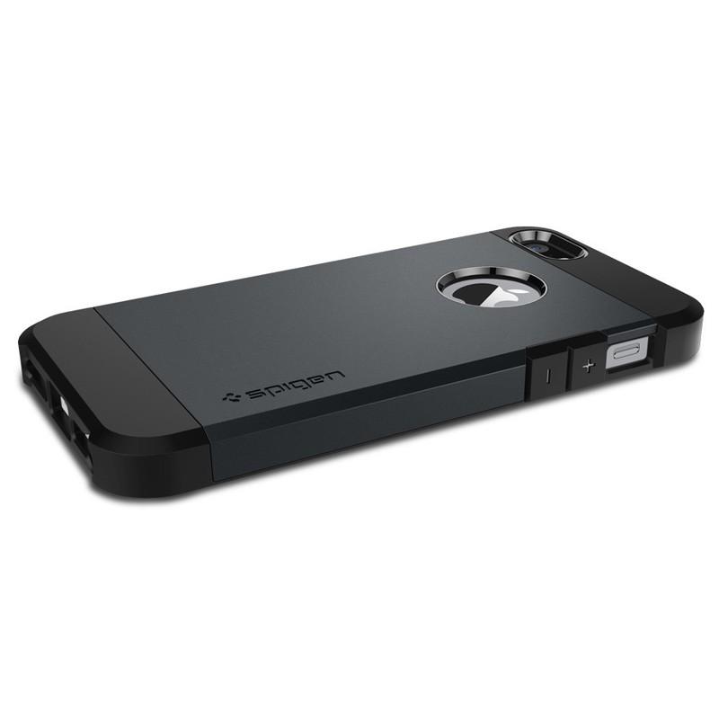 Spigen Tough Armor Case iPhone SE / 5S / 5 Slate Metal - 3