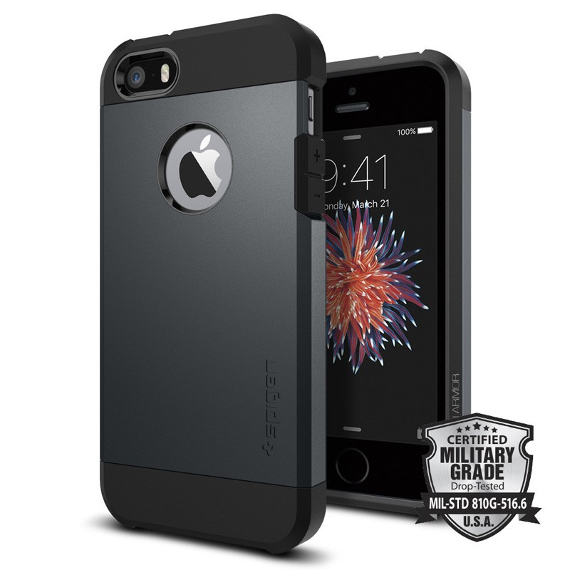 Spigen Tough Armor Case iPhone SE / 5S / 5 Slate Metal - 4