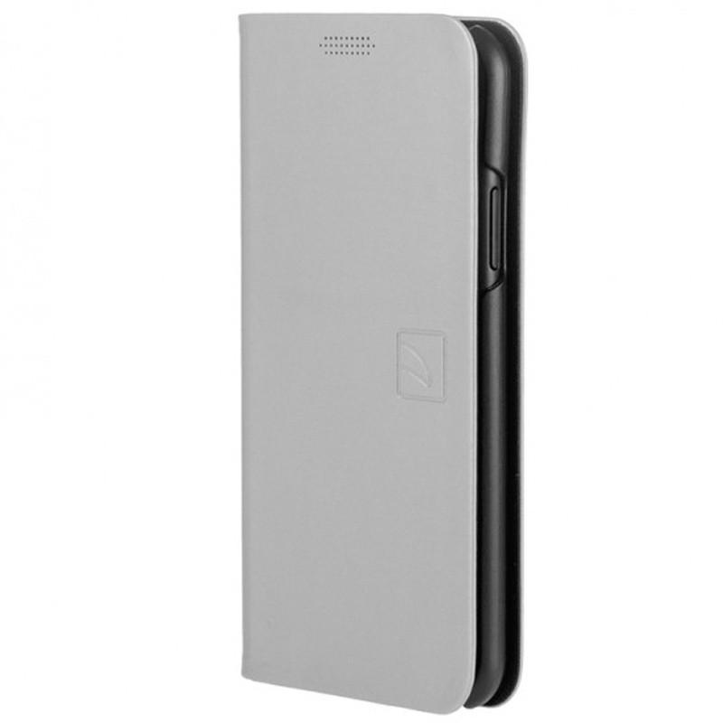 Tucano Filo iPhone X Folio Hoes Zilver 02