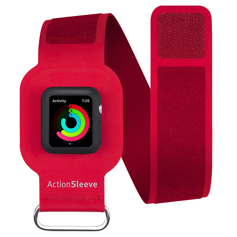 Twelve South - ActionSleeve voor Apple Watch 38mm Red 01