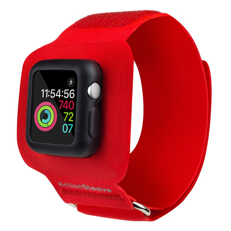 Twelve South - ActionSleeve voor Apple Watch 38mm Red 02
