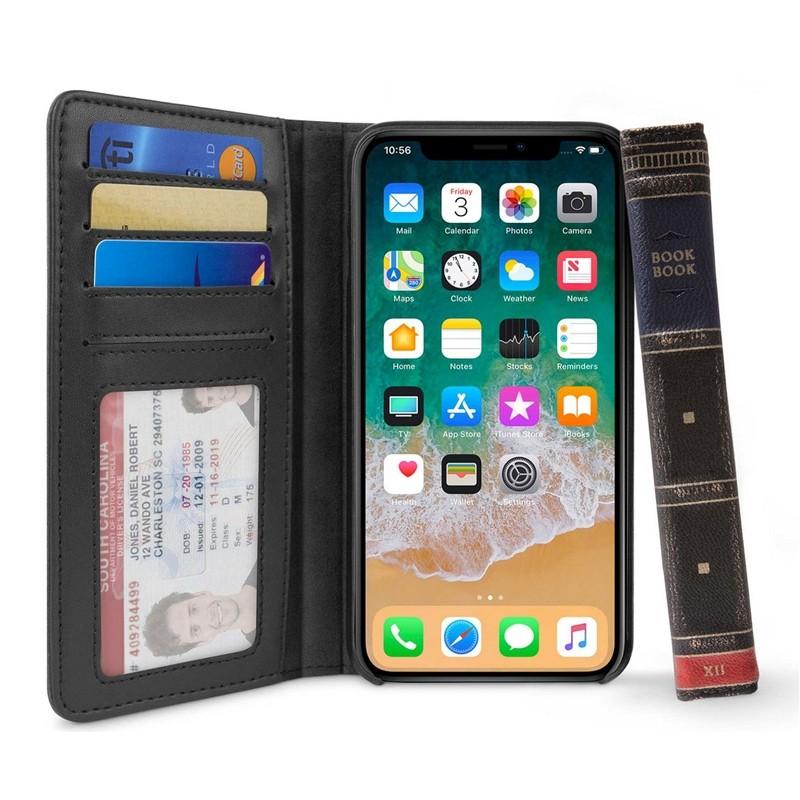 Twelve South BookBook iPhone XS Max Hoes bruin leer 01
