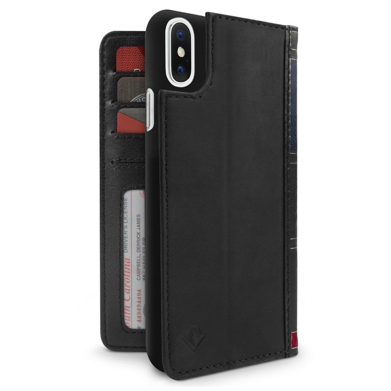 Twelve South BookBook iPhone XR Wallet Hoes Tijdelijk Zwart 03