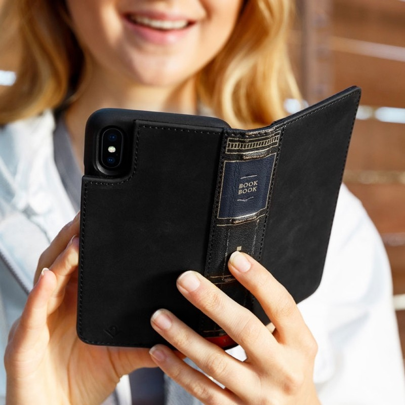 Twelve South BookBook iPhone XR Wallet Hoes Tijdelijk Zwart 06