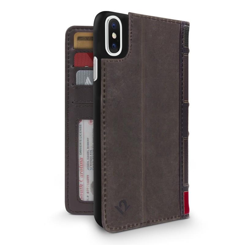 Twelve South BookBook iPhone X/Xs Wallet Bruin - 1