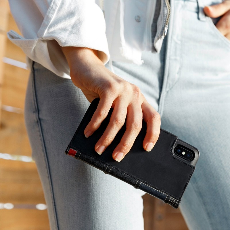 Twelve South BookBook iPhone X Wallet Zwart - 2