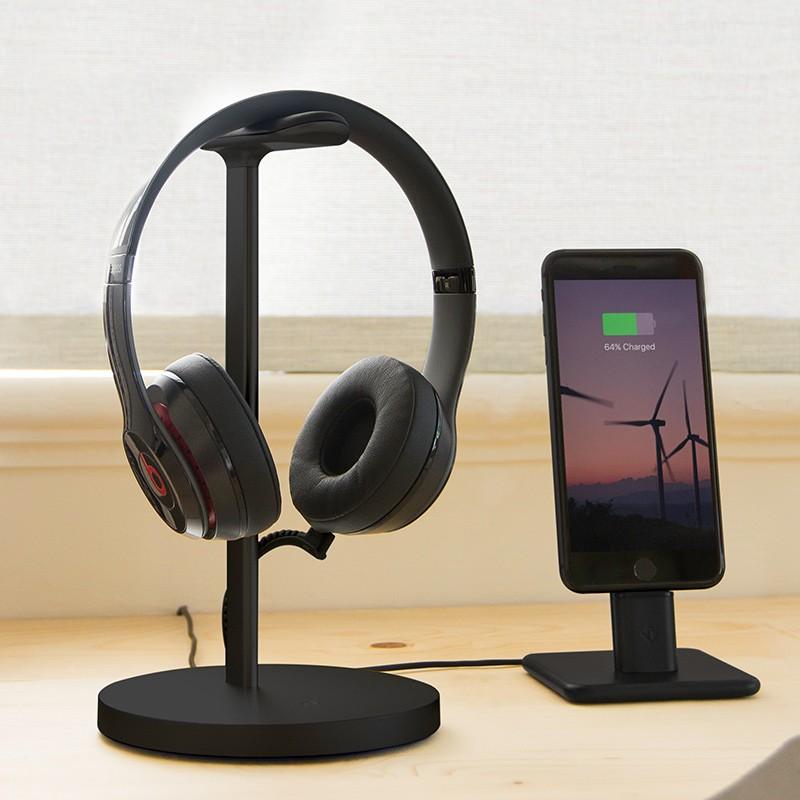 Twelve South - Fermata Headphone Charging Stand Black 08