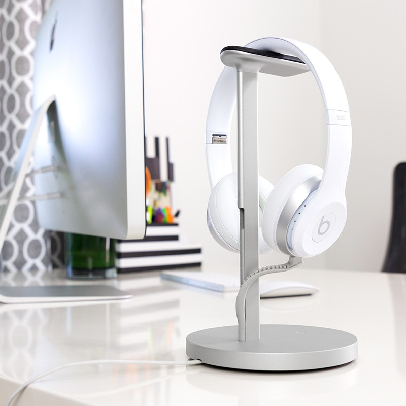 Twelve South - Fermata Headphone Charging Stand Silver 06