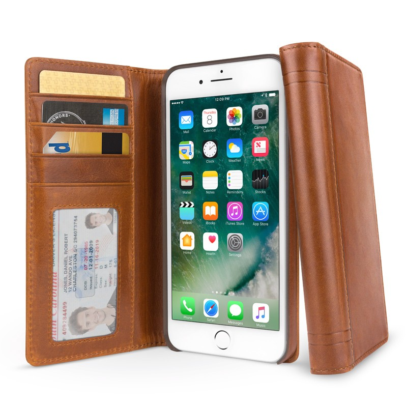 Twelve South - BookBook iPhone 7 hoesje Brown 01