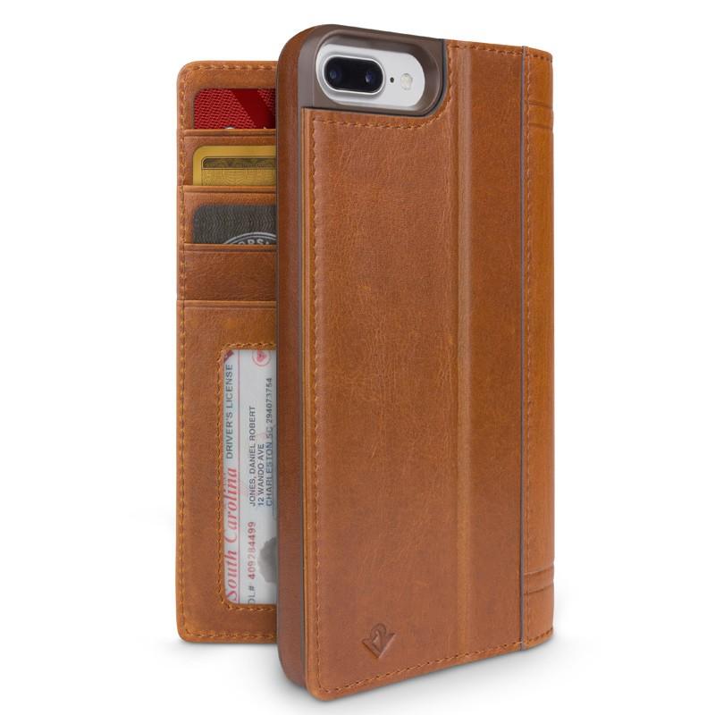 Twelve South - Journal Wallet iPhone 7 Plus hoesje Brown 02