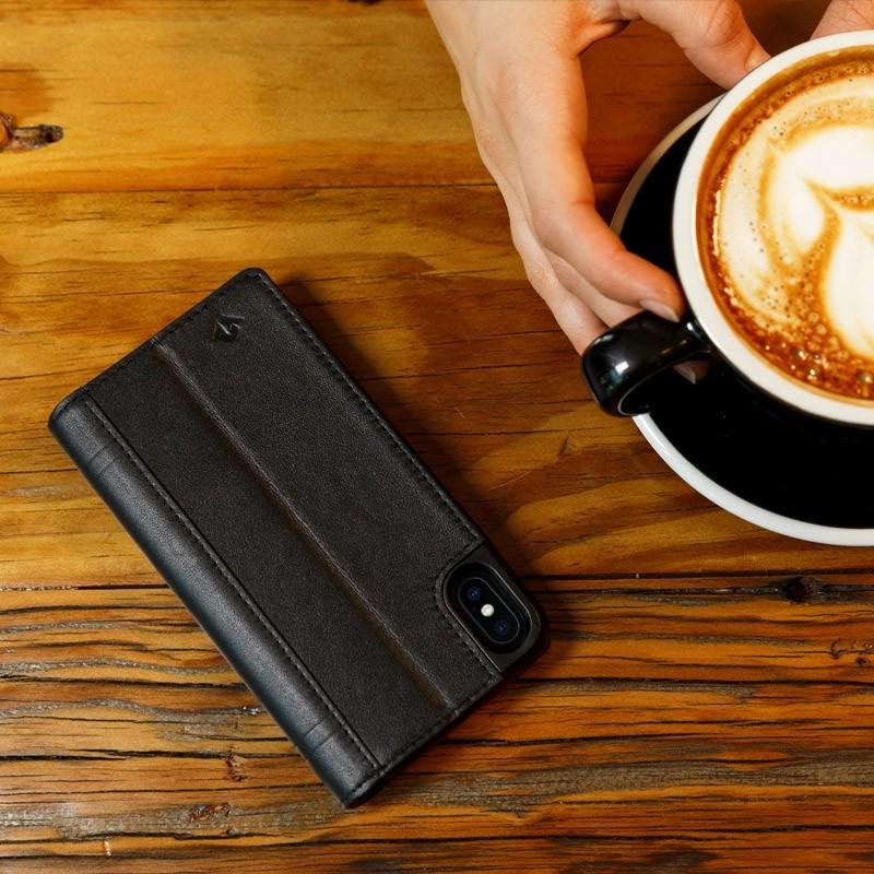 Twelve South Journal Leather Wallet iPhone X/Xs Zwart - 5
