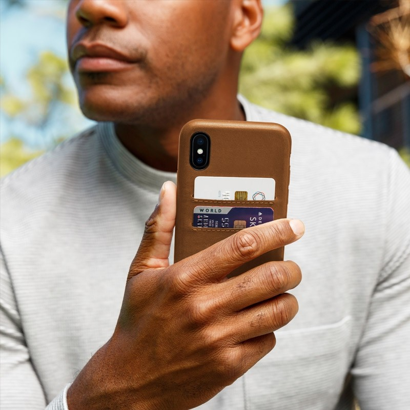 Twelve South Relaxed Leather Wallet iPhone X Earl Grey - 6