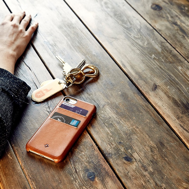 Twelve South - RelaxedLeather iPhone 7 Wallet hoesje Warm Taupe 08