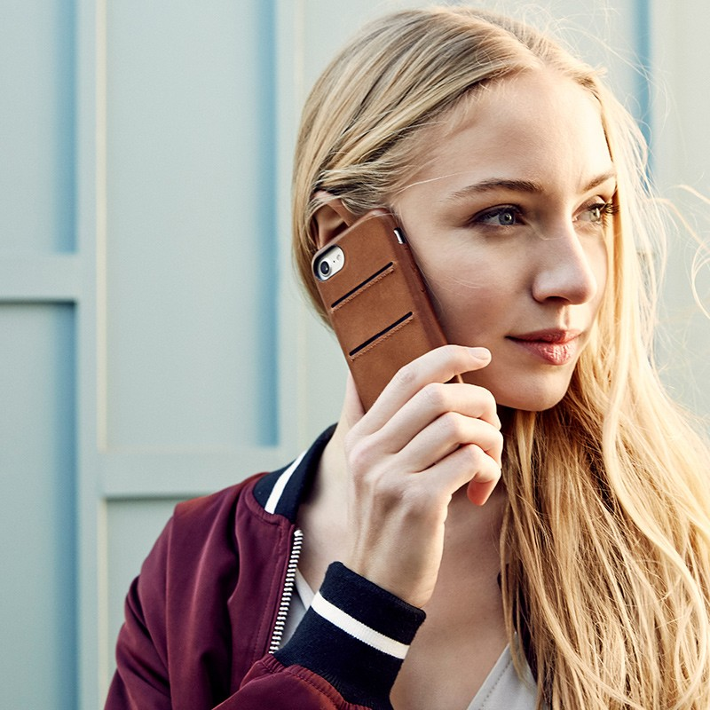 Twelve South - RelaxedLeather iPhone 7 Wallet hoesje Warm Taupe 10
