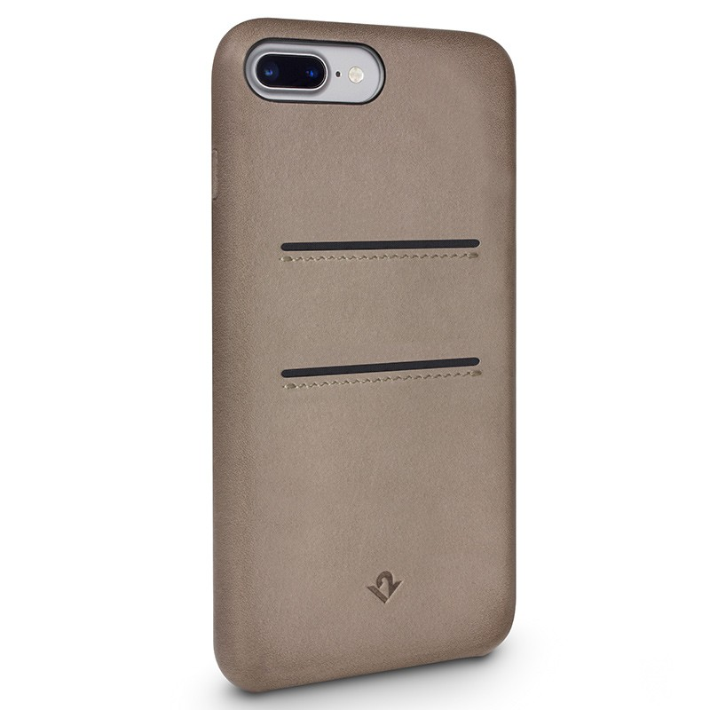 Twelve South - RelaxedLeather iPhone 7 Plus Wallet hoesje Warm Taupe 01