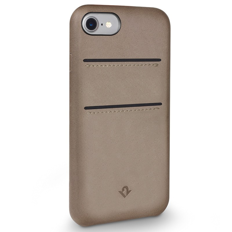 Twelve South - RelaxedLeather iPhone 7 Wallet hoesje Warm Taupe 01