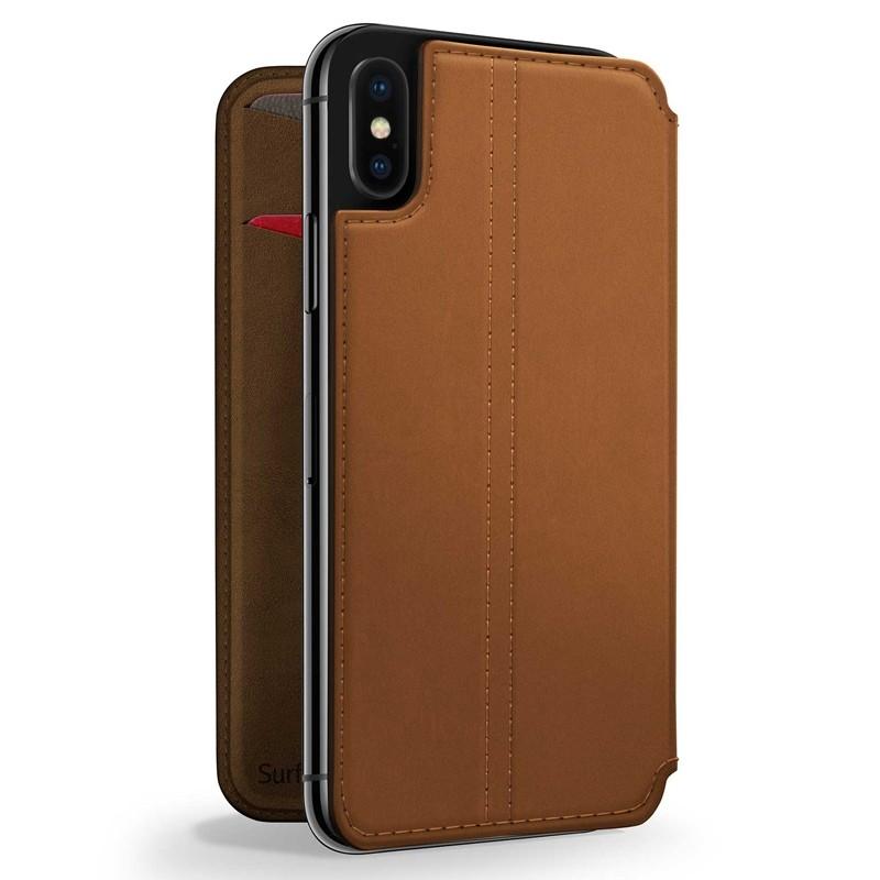 Twelve South SurfacePad iPhone XS Max Hoesje Bruin Leer 01
