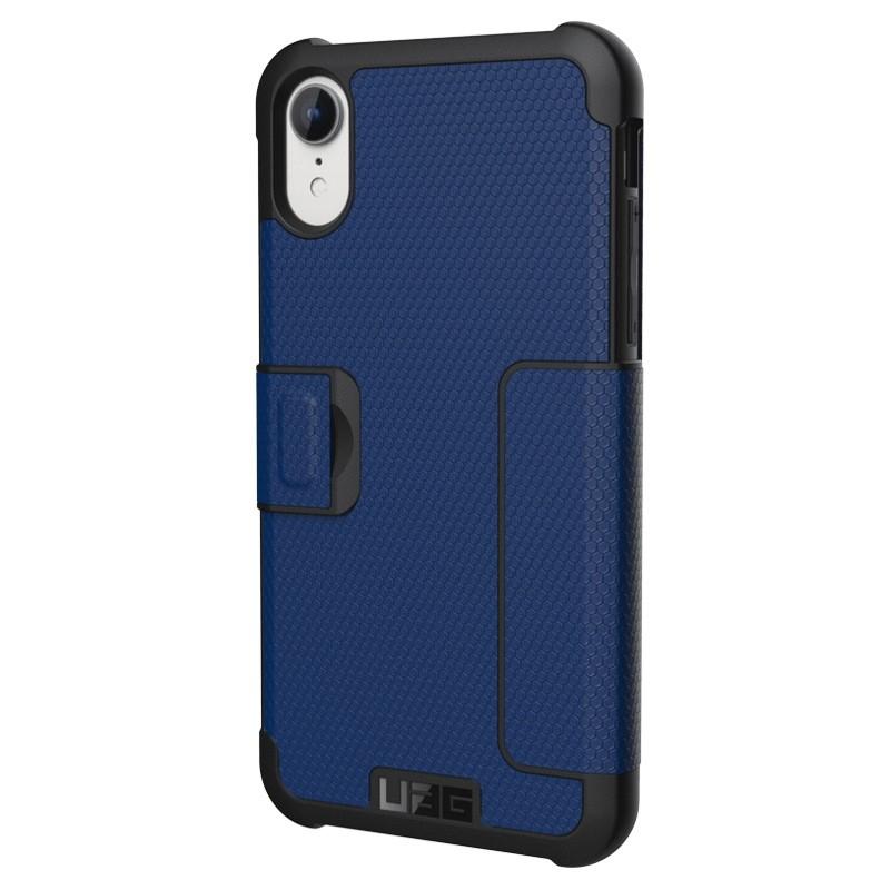 UAG Metropolis iPhone XR Folio Hoes Blauw 04