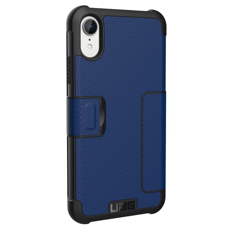 UAG Metropolis iPhone XR Folio Hoes Blauw 02