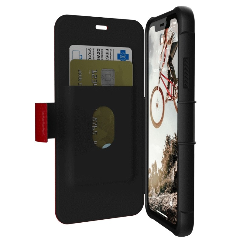 UAG Metropolis iPhone XR Folio Hoes Rood 01