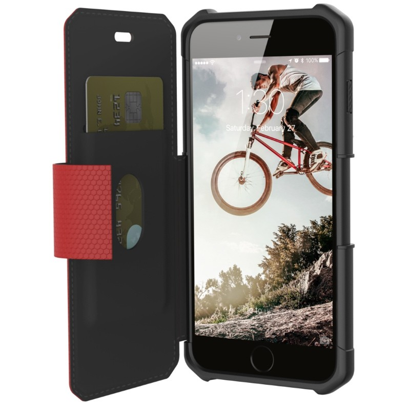 UAG - Metropolis iPhone 7/6S/6 Plus Folio Magma Red 03