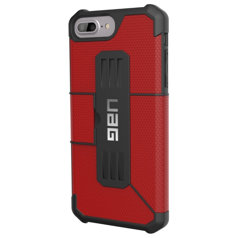 UAG - Metropolis iPhone 7/6S/6 Plus Folio Magma Red 02