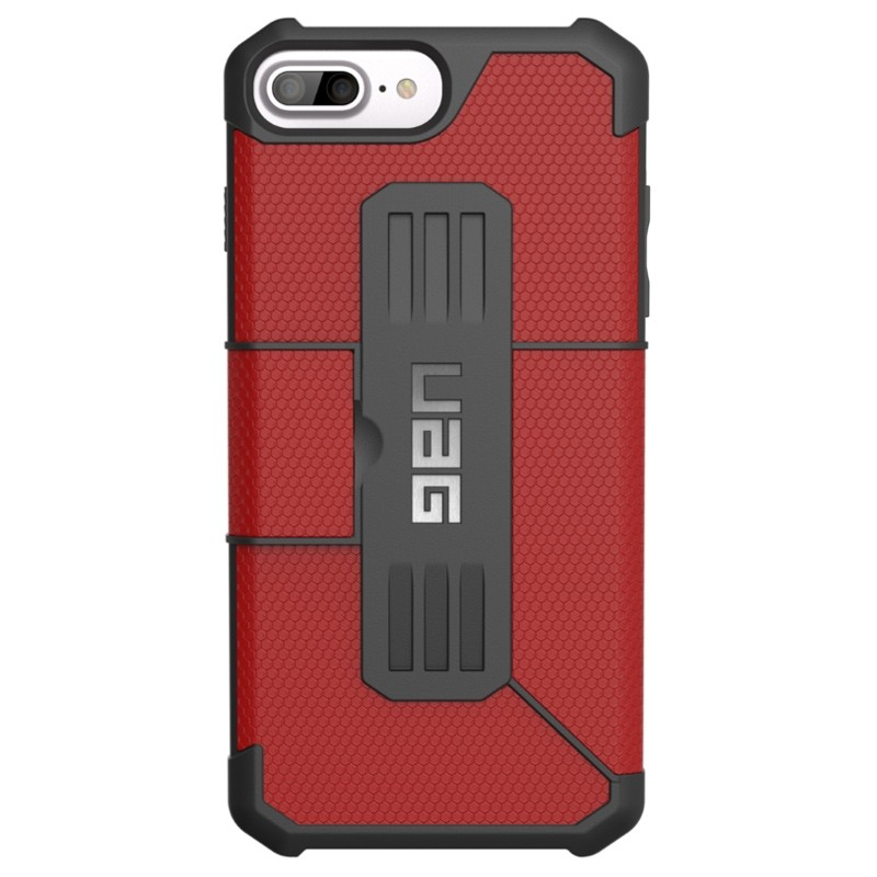 UAG - Metropolis iPhone 7/6S/6 Plus Folio Magma Red 04