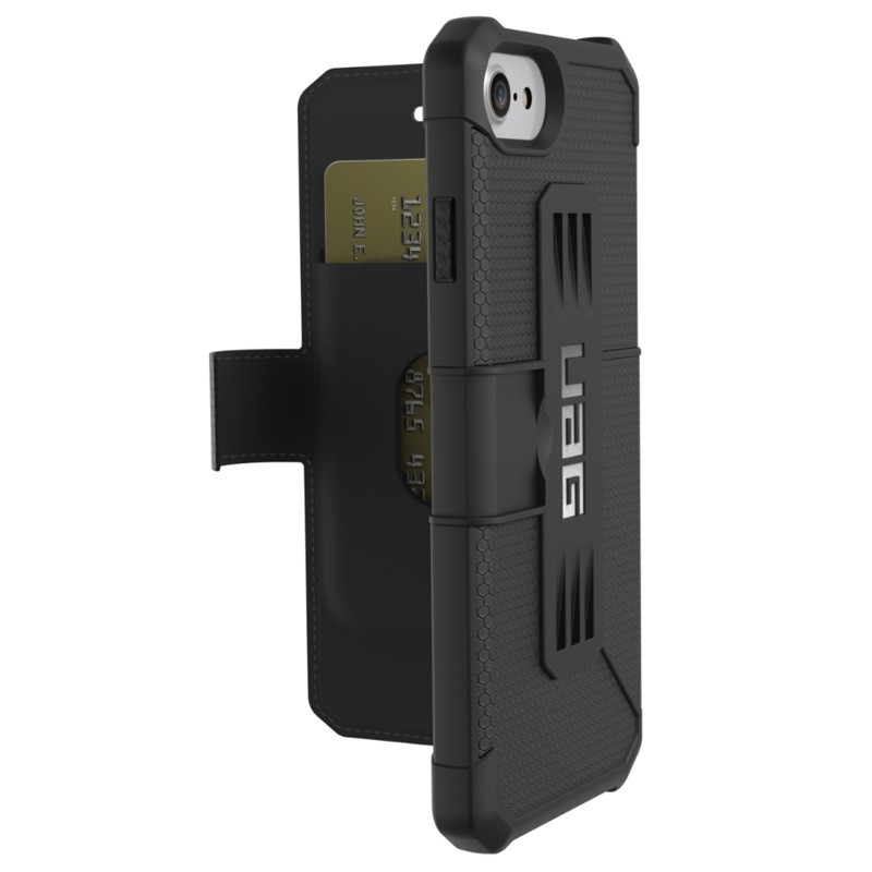 UAG - Metropolis iPhone 7/6S/6 Folio hoes Black 01