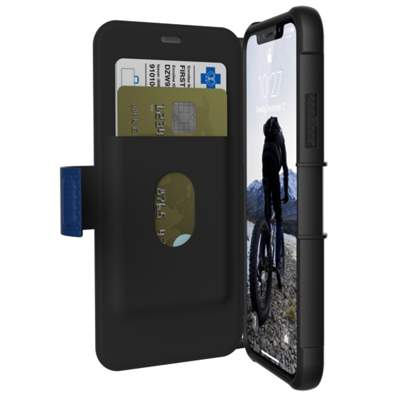 UAG Metropolis iPhone X/Xs Folio Case Cobalt Blue 01