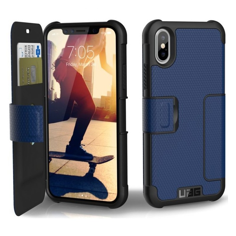 UAG Metropolis iPhone X/Xs Folio Case Cobalt Blue 03
