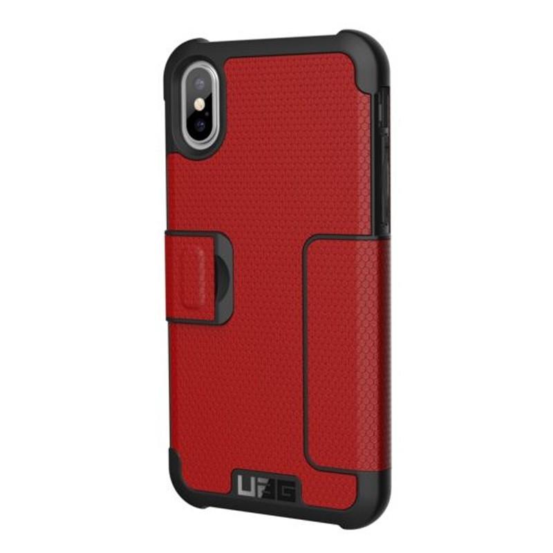 UAG Metropolis iPhone X/Xs Folio Case Magma Red / Crimson Red 02
