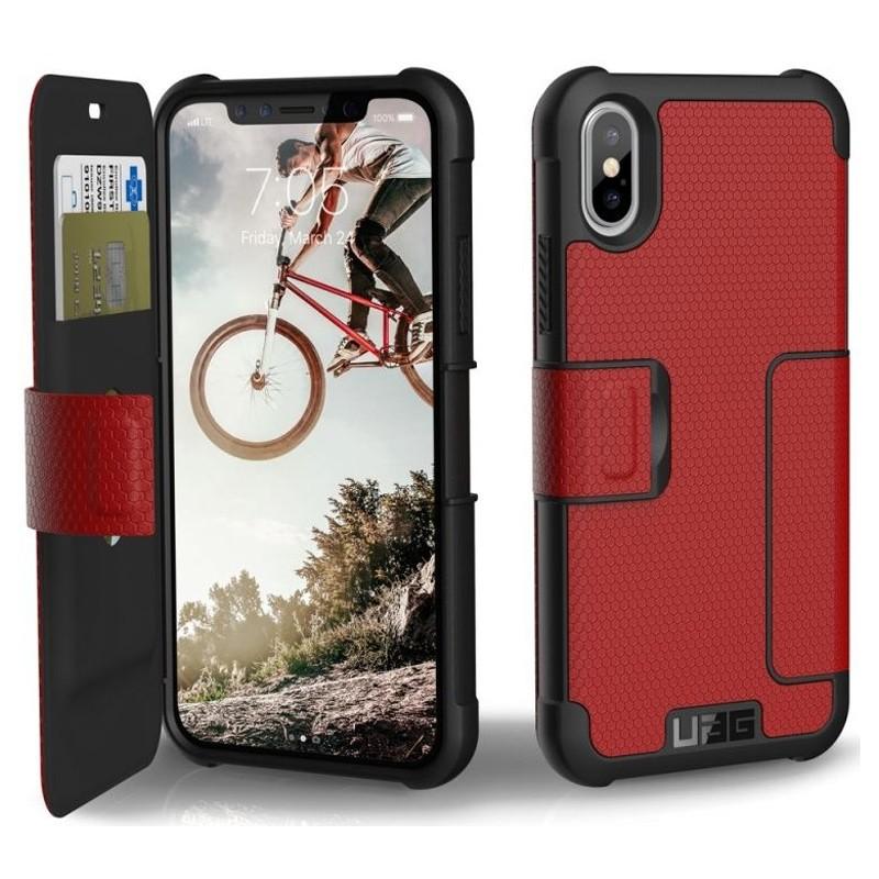 UAG Metropolis iPhone X/Xs Folio Case Magma Red / Crimson Red 03